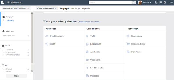 Online Advertising Facebook Ads - Facebook Ads Manager